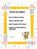 Common Core Aligned Mystery Numbers using Place Value and