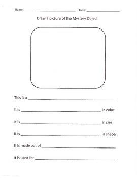 Mystery Object Activity & Worksheet