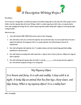 Argumentative Essay Sample High School Mystery Object Sharing A Descriptive Writing Assignment English Sample Essays also Politics And The English Language Essay Mystery Object Sharing A Descriptive Writing Assignment By Jennifer  Essay On English Language