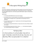 Mystery Object Sharing- A Descriptive Writing Assignment