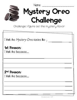 Mystery Oreo Challenge: Opinion Writing