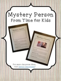 Mystery Person Template (Time for Kids)