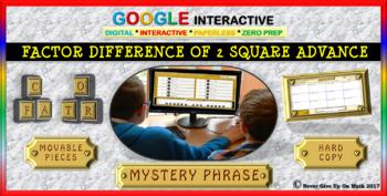 Mystery Phrase: Solve with Quadratic Formula L3 (Google Interactive & Hard Copy)