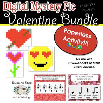 Mystery Pic - Valentine Bundle Color By Note