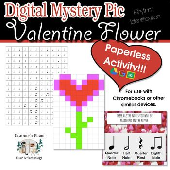 Mystery Pic - Valentine Flower Color By Note