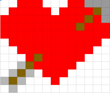 Mystery Pic - Valentine Heart Color By Note