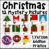 Christmas Mystery Pictures- Hundreds Chart Addition Practice