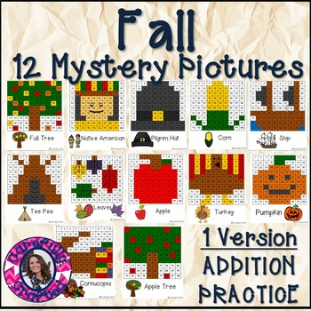 Fall Mystery Pictures- Hundreds Chart Addition Practice