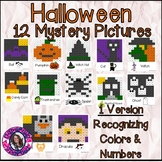 Halloween Mystery Pictures- Hundreds Chart Recognizing Colors and Numbers