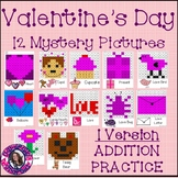 Valentine's Day Mystery Pictures- Hundreds Chart Addition Practice