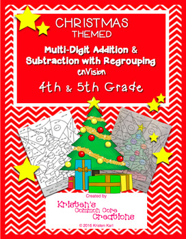 Mystery Picture 4th 5th Multidigit Addition Subtraction Regrouping