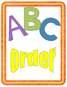 Mystery Picture ABC Order Game
