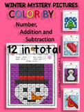 Winter Mystery Pictures - Math Centers - 1st Grade CCSSMAT