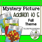 Mystery Picture - Addition to 5 - Fall Theme
