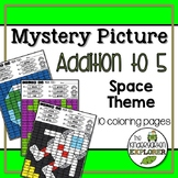 Mystery Picture - Addition to 5 - Space Theme