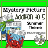 Mystery Picture - Addition to 5 - Summer Theme