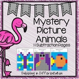 Subtraction Mystery Picture Animals
