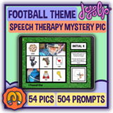 Mystery Picture Articulation: Football Theme - Speech Therapy BOOM CARDS