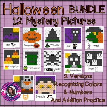 Halloween Mystery Picture BUNDLE- 12 Pictures Addition and