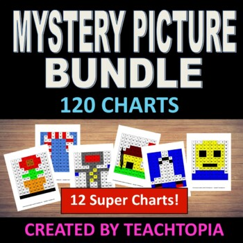 Mystery Picture Bundle (120 Chart) Incredible Value for 10 Mystery Pictures!