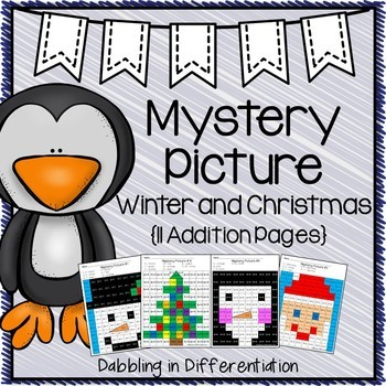Christmas and Winter Addition Mystery Picture