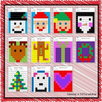 Christmas and Winter Multiplication Mystery Picture