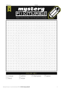 Mystery Pictures: Color By Number Writing Activity St Patrick's Day •FREE•