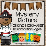 Halloween and Fall Subtraction Mystery Picture