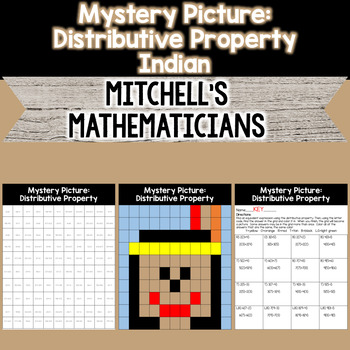 Mystery Picture For Distributive Property Review