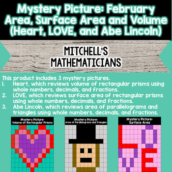 Mystery Picture For February Valentine's and President's Day BUNDLE