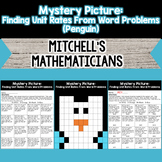 Mystery Picture For Finding Unit Rates From Word Problems Penguin