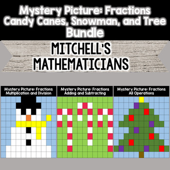Mystery Picture For Fractions (All Operations) BUNDLE.