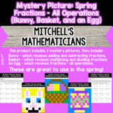 Mystery Picture For Fractions Bundle All Operations Spring