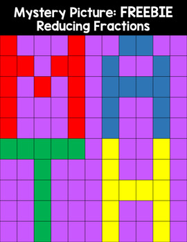 Mystery Picture For Reducing Fractions Math FREEBIE