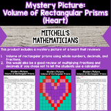 Mystery Picture For Volume of Rectangular Prisms Heart for Valentine's Day