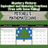 Mystery Picture For Writing Equivalent Fractions and Reducing Fractions