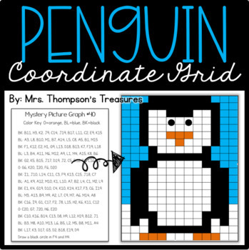 Winter Math - FREE Penguin Mystery Picture Graph