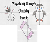 Mystery Picture Graph Variety Pack - Penguin, Snowman, & Smartphone