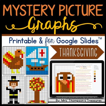 Thanksgiving Math - Mystery Picture Graphs