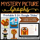 Thanksgiving Math Mystery Picture Graphs Printable & Digital Distance Learning
