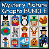 Mystery Picture Graphs Activities Bundle - Halloween