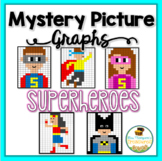 Mystery Picture Graphs - Superhero Pack