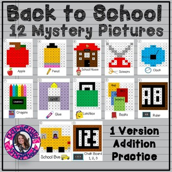 Entire Year Mystery Picture Bundle Addition Practice