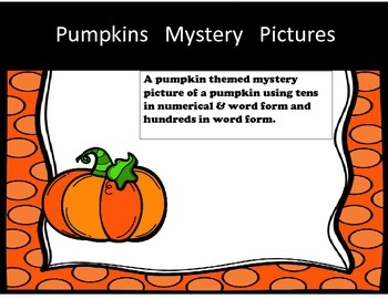 Mystery Picture - Halloween/Pumpkin (Tens and Hundreds)
