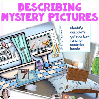 Mystery Picture Hunt Game 2 | Lost in  Houses for speech therapy