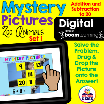 Digital Mystery Pictures Addition and Subtraction to 20 Set 1