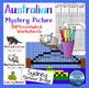 Australia Theme BUNDLE: Multiplication Color by Number - Math Mystery Picture