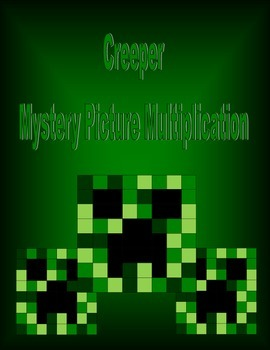 Mystery Picture Multiplication: Creeper