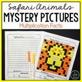 Mystery Pictures Safari - Multiplication Facts