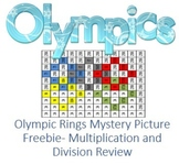 "Mystery Picture ""Olympic Rings"" for Multiplication and Division Review"